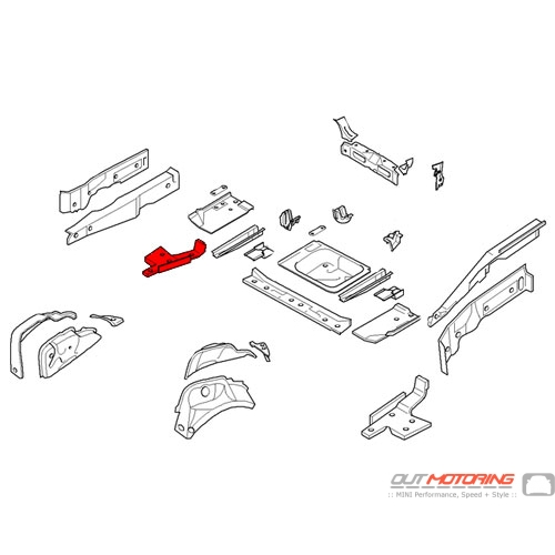 Cover: Rear Axle Support: Right