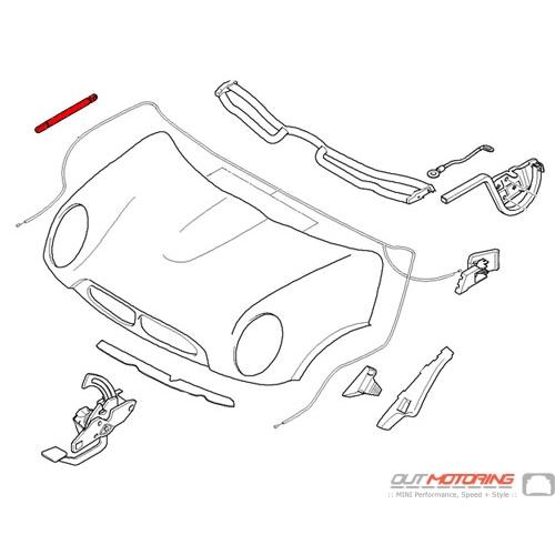 Hydraulic Strut: Hood: R50/2/3