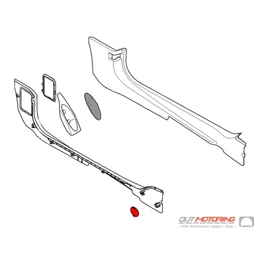 Stopper: Floor Trim Panel