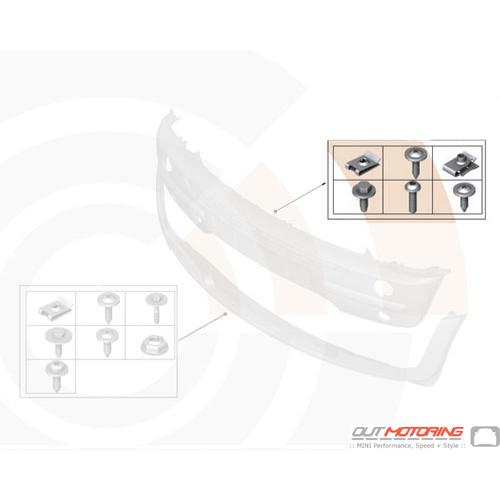 Front Bumper Hardware Kit: R50-R53