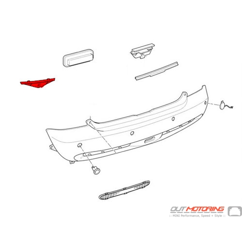Rear Bumper Bracket: Left