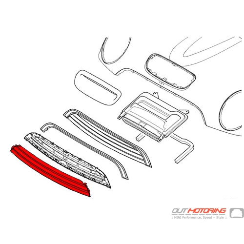 51137122473 Mini Cooper Replacement Cooper S Front Grill Chrome