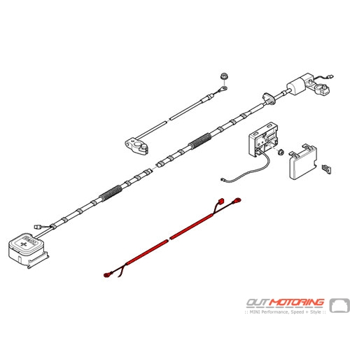 61119136722 Mini Cooper Replacement B  Wire With Sbk Repair Wire