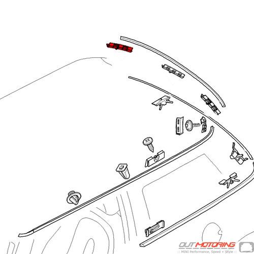 Exterior Trim Clip: Rear: Right