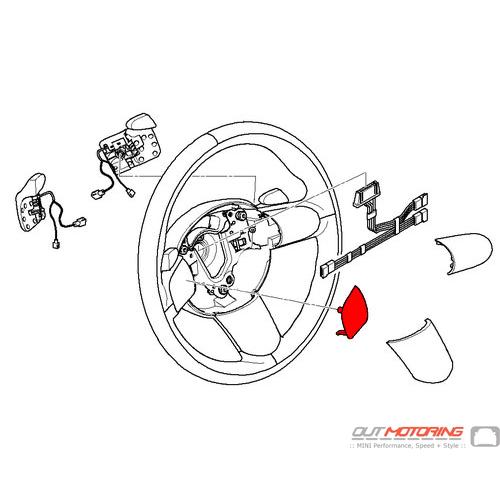 Steering Wheel Trim: Left
