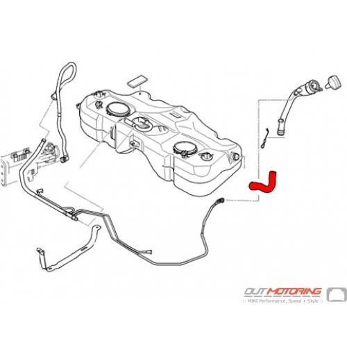 16136763840 Mini Cooper Replacement Fuel Hose