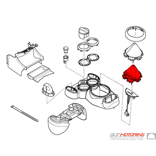 Gearshift Steptronic Boot: Black