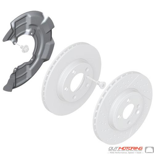 Brake Dust Shield: Left