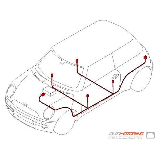 61116966377 mini cooper replacement audio wiring harness