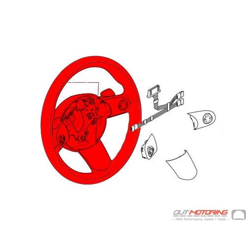 Steering Wheel: Sports: Multi-Function: Leather