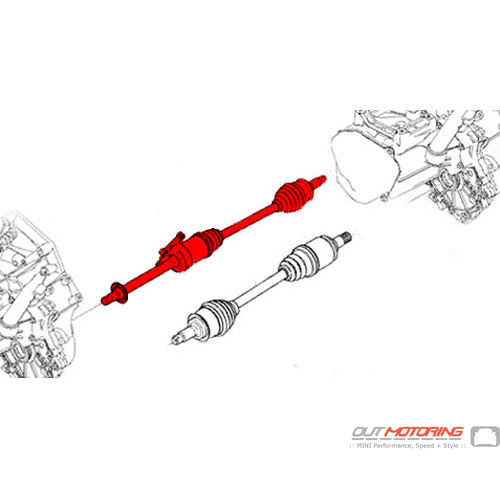 Axle Shaft: R52/3S: Automatic: Right