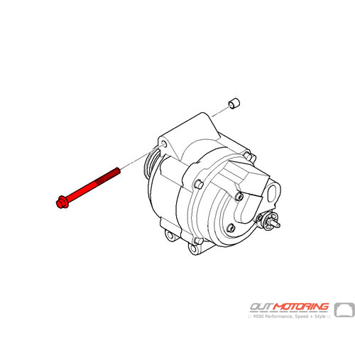 Screw: Alternator Mounting