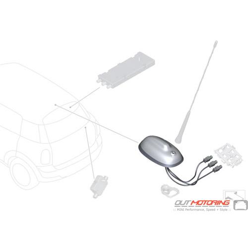 Roof Antenna: Navigation/ Smartphone Interface