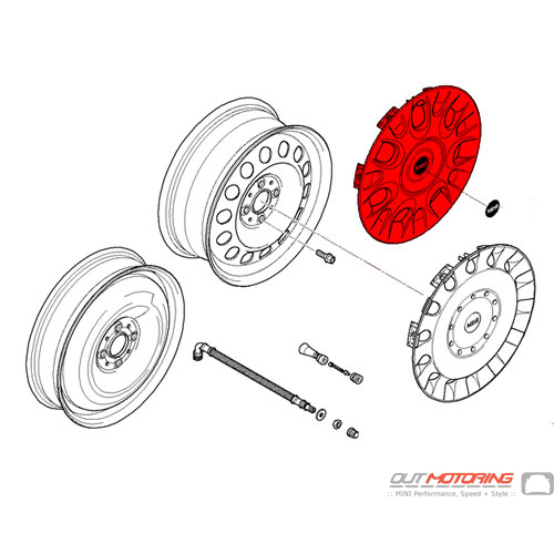 Wheel Cover: 15 inch