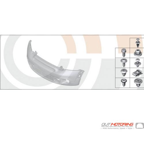 Front Bumper Hardware Kit: R55-R59