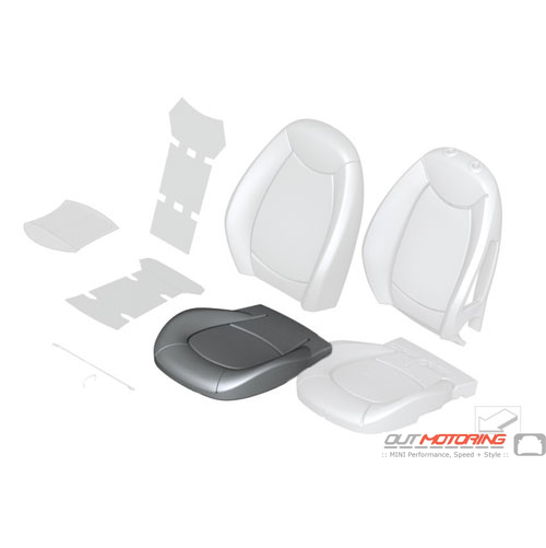Sport Seat Cover: Leather: Polar Beige: Front: Right