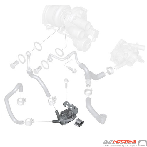 11537630368 MINI Cooper Replacement Auxiliary Water Pump