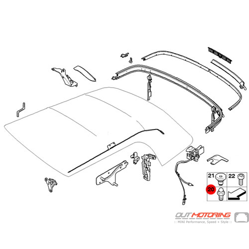 Convertible Replacement Parts : Mini cooper replacement pin convertible top