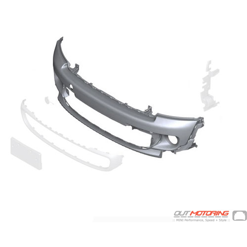 Trim Cover: Front Bumper: Primered