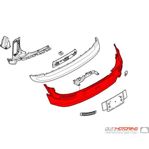Bumper: Trim Panel: Rear W/ PDC