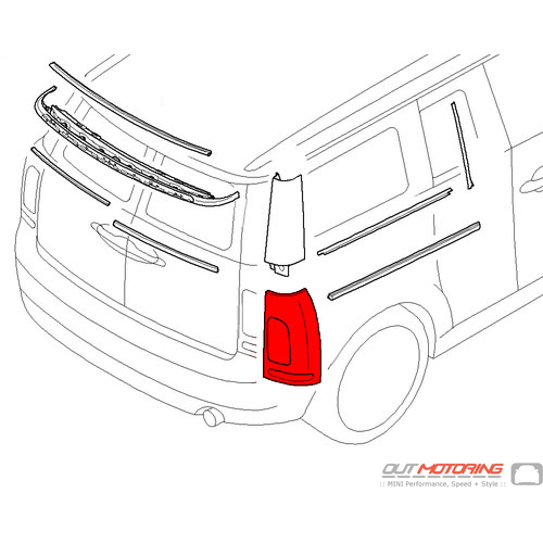 Trim: Tail Light W/ Reflector: Primered: Right