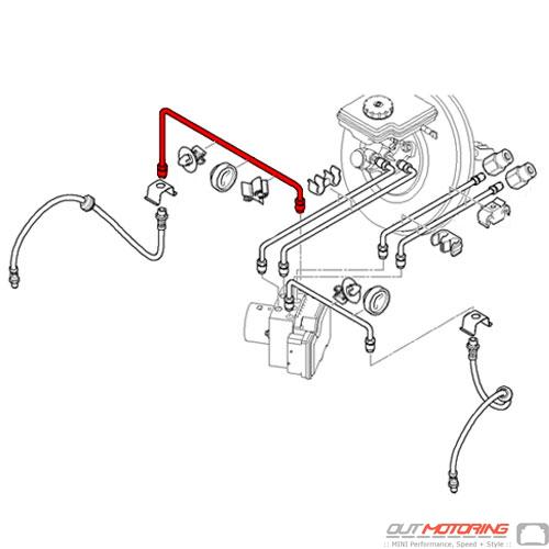 Mini Cooper 34326793015 Front Brake Pipe