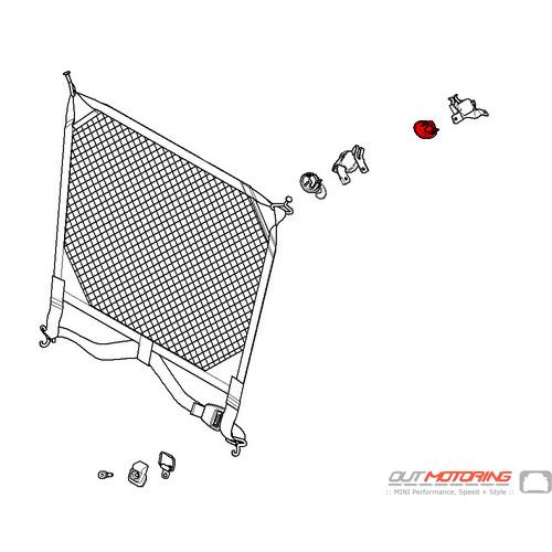 Cover: Suspension Loop: Dividing Net: Rear: Right: Grey
