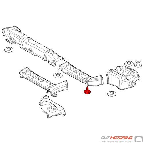51712752359 MINI Cooper Replacement Parts Hex Bolt W