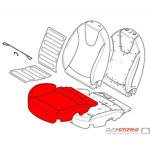 Cover: Base Seat: Imitation Leather: Left: Carbon Black