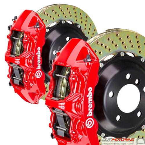 Brembo GT 380mm Brake Kit: Red: Cross Drilled