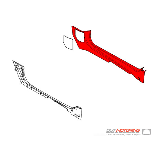 51437267060 MINI Cooper Replacement Cover: Lateral Trim