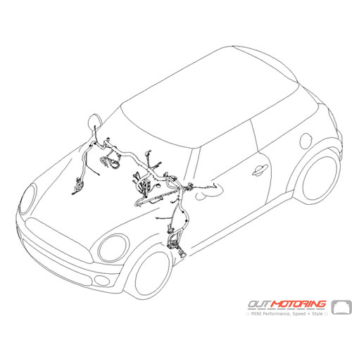 61113457174 mini cooper replacement instrument panel wiring harness rh outmotoring com Mini Cooper Body Control Wiring Harness Mini Cooper Radio Wiring Harness Auto