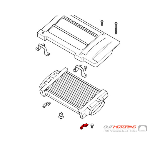 Bracket: Air Charge Cooler