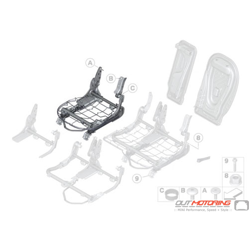 Rear Seat Frame: Right