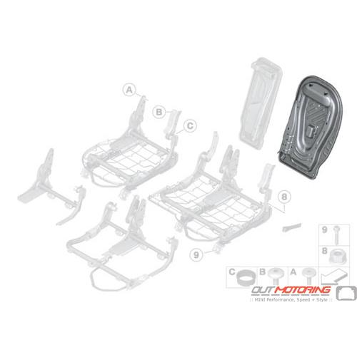 Rear Backrest Frame: Right