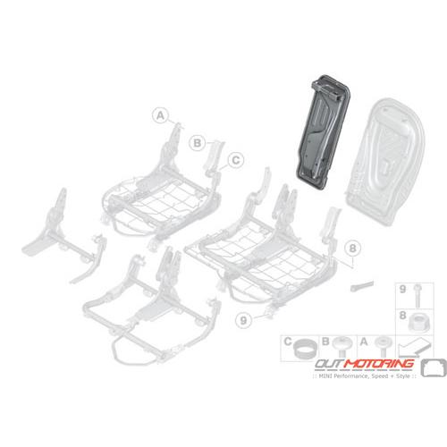 Rear Backrest Frame: Center