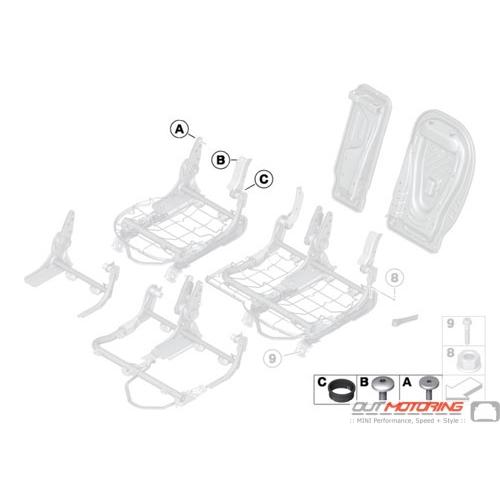 Set of Fittings: Backrest