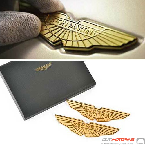Gold Aston Martin Wings Logo Badges