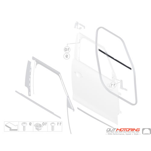 Window Channel Cover: Inner Right