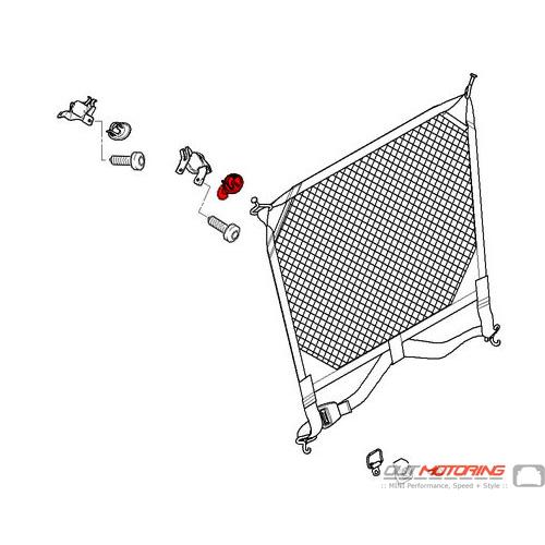 Cover: Suspension Loop: Dividing Net: Front: Right: Light Beige