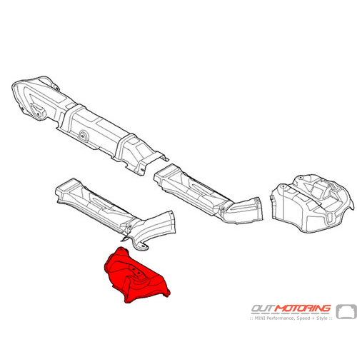 Heat Insulation: Rear Silencer: Left
