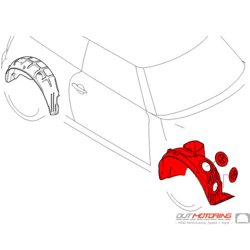 Wheel Well Liner: JCW Front: Right