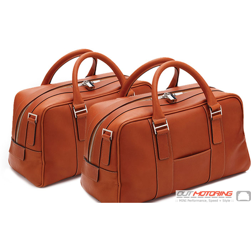 Aston Martin 2 Piece Luggage Set: Saddle Tan