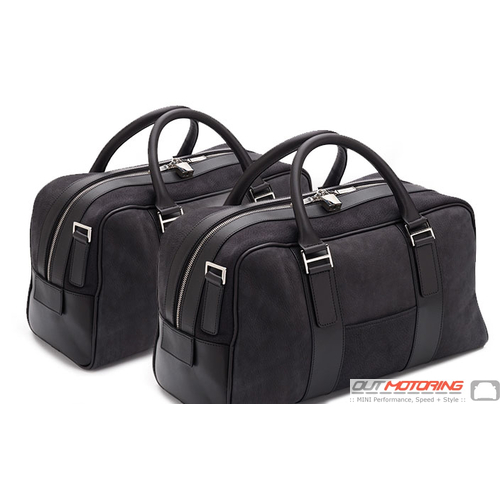 Aston Martin 2 Piece Luggage Set: Black Nubuck