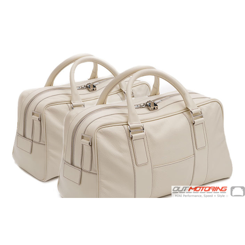 Aston Martin 2 Piece Luggage Set: Cream Truffle