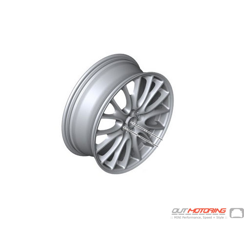 Complete Set: Alloy Wheels: R113: Gloss Gray