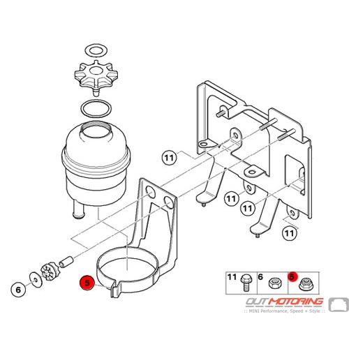 07129964605 Mini Cooper Replacement Hex Nut