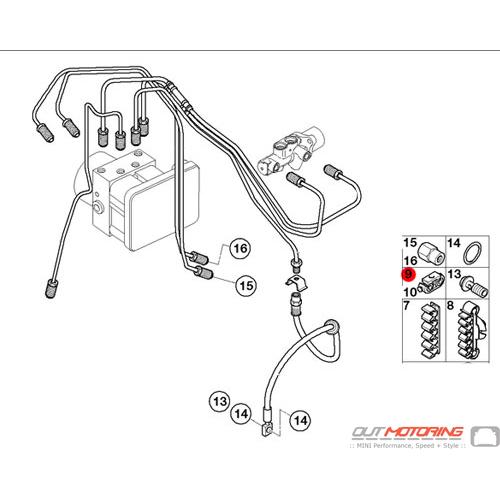 brake pipe spacer