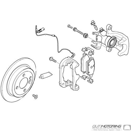 Brembo Style JCW Big Brake Kit: Rear