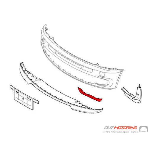 GP Front Lower Lip Seal: Left